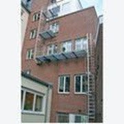 Настенная лестница из нержавеющей стали 18.06 м KRAUSE 814029 фото