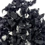 Гранитная крошка черная с белым фото