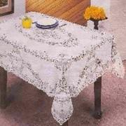 Скатерть ПВХ Crochet 110х140см белая (1/36) фото