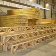 Балки перекрытия деревянные на металлических зубчатых пластинах фото