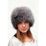 Женские меховые головные уборы, женские шапки из лисы чернобурки фото