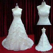 Свадебное платье модель - А004, цвет - слоновая кость фото