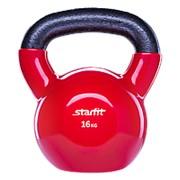 Гиря виниловая STARFIT DB-401, красная, 16 кг фото