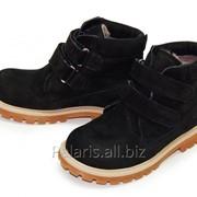 Черные замшевые ботинки, арт. 1926-230416 фото
