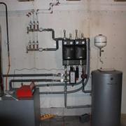 Монтаж и обвязка напольного газового котла фото