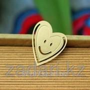 Позолоченная металлическая закладка Сердце фото
