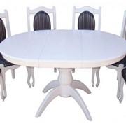 Стол и стулья обеденные фото