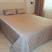 Покрывало и подушка одотонные фото