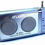 Колонка портативная ATLANFA AT-8957 с USB, CardReader и FM фото