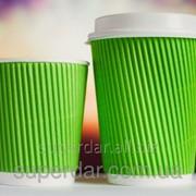 Гофростакан двойной, 180 мл, Зеленый фото