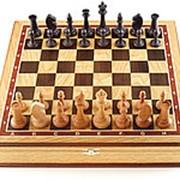 Шахматы ларец Этюд дуб большие фото