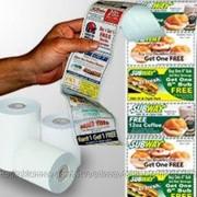 Реклама на чековой ленте(чеках) фото