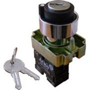 XB2-BG21 Кнопка поворотная с ключом 2-х позиционная фото