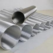 Гибкие воздуховоды, материал - алюминий фото