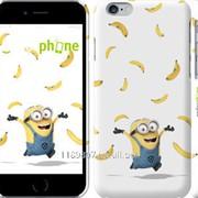 Чехол на iPhone 6 Миньон и бананы 3074c-45 фото
