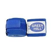 Бинт боксерский Green Hill BP-6232c 3,5м синий фото