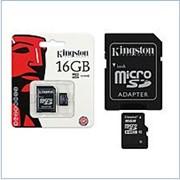 Флеш-пам'ять MicroSD Kingston Transcend 16Gb class 10 UHS-I фото