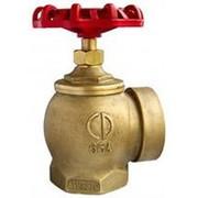 Вентиль пожарный угловой латунный AVH-65, муфта/муфта, 90 гр. фото