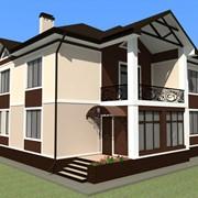 Разработка дизайна фасада строения фото