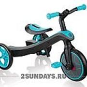 Велосипед-беговел Globber Trike Explorer 2 в 1 голубой фото