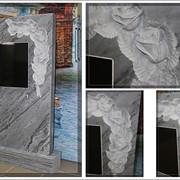 Памятник из натурального мрамора фото