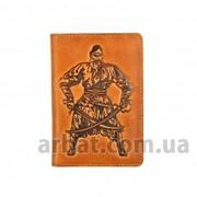 Обложка для паспорта Kazak Кожа рыжий фото