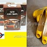 Желтая краска для обуви NLS фото