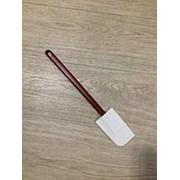 Лопатка с бордовой ручкой фото