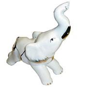 Сувенир Слон белый с позолотой 2682 фото