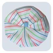 Берет изготовлен из 100% натуральной ткани, рубчик. фото