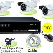 Комплект видеонаблюдения BT-K2 из 4 уличных камер фото