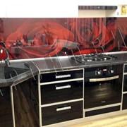 Набор кухонной мебели с фотопечатью фото