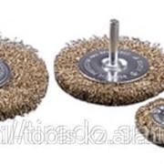 Щетка Stayer дисковая для дрели, сплет в пучки стальн зак проволока 0,5мм, 100мм Код:3522-100 фото