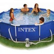Бассейн каркасный INTEX METAL FRAME 305х76 (с картриджным фильтром) фото