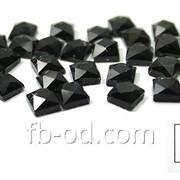 Камни-стразы клеевые 5х5 чёрные-упак 100 шт. 24010 фото