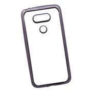 Силиконовый чехол «LP» для LG G5 TPU (прозрачный с черной хром рамкой) европакет фото