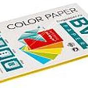 BVG Paper Бумага цветная BVG, А4, 80г, 50л/уп, желтая, интенсив фото