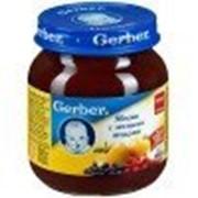 Пюре Gerber Яблоко, лесные ягоды, с 5 мес 130 гр фото