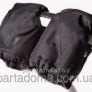 Рукавицы для коляски, цвет черные фото