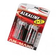Батарейка Ansmann Alkaline AA, LR6, AM3, MN1500 1.5V 6 шт (1512-0007) фото