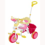Велосипед трехколесный - С МУЗЫКАЛЬНОЙ ПАНЕЛЬЮ (розовый, голубой, зеленый) фото