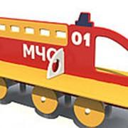 Скамейка детская Пожарная машина МЧС Арт.8018 фото
