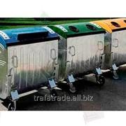 Евроконтейнер с крышками под раздельный сбор мусора (пластик, бумага, стекло) фото