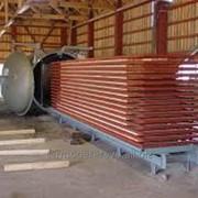 Термообработка древесины (услуги термической обработки древесины) фото