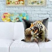 """Декоративная подушка """"Тигр в воде"""" фото"""
