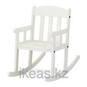 Кресло-качалка детское, белый СУНДВИК фото