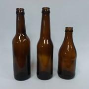 Стеклянная бутылка пивная коричневая объем 0,33 л фото