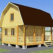 Дом из профилированного бруса с мансардой, размер 6х6 м (проект 2Д-10) фото
