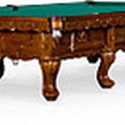 Бильярдный стол для русского бильярда Gogard 12ф (орех пекан) фото