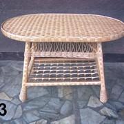 """Плетеный столик """" Елит"""" № 12 фото"""
